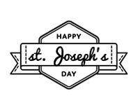 Счастливая эмблема приветствию дня St Josephs Стоковые Изображения RF