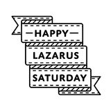 Счастливая эмблема приветствию праздника Лазаря субботы Стоковые Изображения RF