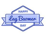 Счастливая эмблема приветствию праздника Baomer запаздывания Стоковые Изображения RF
