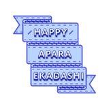 Счастливая эмблема приветствию Apara Ekadashi Стоковая Фотография