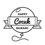 Счастливая эмблема приветствию Cocuk Bairami Стоковое Изображение