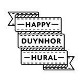 Счастливая эмблема приветствию Duynhor Hural Стоковые Изображения