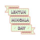 Счастливая эмблема приветствию Lehtun Mingala Стоковое Фото