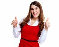 Счастливая excited бизнес-леди. Стоковое Изображение RF