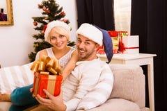 Счастливого рождества соединяют праздновать Новый Год Стоковая Фотография RF