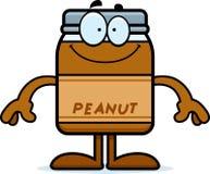 Счастливое арахисовое масло шаржа иллюстрация вектора