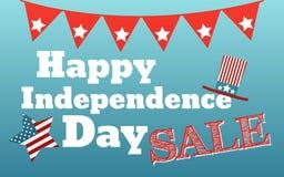 Счастливое 4-ая из карточки Соединенных Штатов Америки в июле Стоковая Фотография