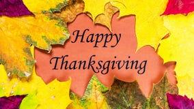 счастливое благодарение Официальный праздник в США в память первых колонистов Массачусетса Стоковые Изображения