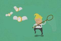Счастливое время летания звероловства человека Стоковая Фотография RF