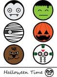 Счастливое время хеллоуина, иллюстрация Стоковые Фотографии RF
