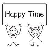 счастливое время бесплатная иллюстрация
