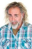 Счастливое Гай с бородой Стоковое фото RF