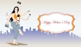 Счастливое знамя вектора дня матерей Стоковое Изображение RF