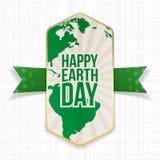 Счастливое знамя дня земли большое striped Стоковое фото RF
