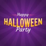 Счастливое знамя текста партии хеллоуина Бесплатная Иллюстрация