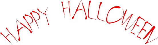Счастливое знамя хеллоуина Стоковое Фото