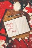 Счастливое новое примечание 2017 год Стоковые Изображения
