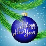 счастливое Новый Год иллюстрации Стоковое фото RF