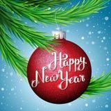 счастливое Новый Год иллюстрации Стоковая Фотография RF