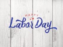 Счастливое оформление Дня Трудаа над древесиной Стоковая Фотография