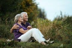 счастливое пар пожилое Стоковое Изображение RF