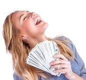 Счастливое предприниматель денег Стоковое Изображение RF