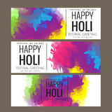 Счастливое приветствие фестиваля Holi, торжество Holi, дизайн вектора Иллюстрация вектора