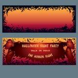 Счастливое приглашение хеллоуина Стоковое Изображение RF