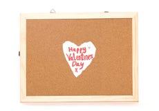 Счастливое примечание влюбленности дня валентинок Стоковые Изображения RF