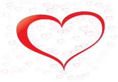 Счастливое сердце красного цвета дня валентинок Стоковое Изображение RF