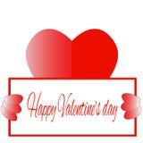 Счастливое сердце красного цвета дня ` s валентинки Стоковая Фотография RF