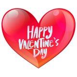 Счастливое сердце дня валентинки лоснистое Стоковые Фото