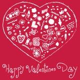 Счастливое сердце дня валентинок Стоковое фото RF