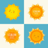 счастливое солнце иллюстрации Вектор искусства Солнця Стоковая Фотография