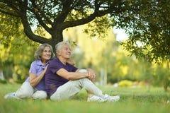 счастливое старые люди Стоковые Изображения RF