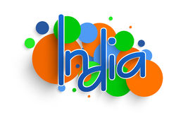 Счастливое торжество дня республики с текстом Индией Стоковое фото RF
