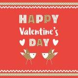 Счастливое украшение дня ` s валентинки Стоковое фото RF