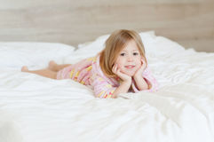 Счастливое утро девушка Стоковые Фото
