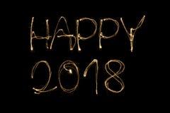 Счастливое 2018 Стоковое Фото