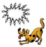 Счастливое dog-100 иллюстрация вектора