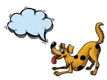 Счастливое dog-100 иллюстрация штока