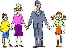Счастливое Family-11 иллюстрация вектора
