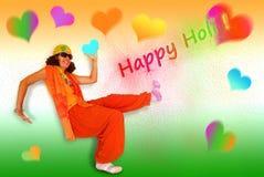 Счастливое Holi Стоковое Изображение