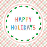 Счастливое holidays21 Стоковое Изображение