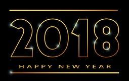 счастливое khokhloma знамени Нового Года 2018 Стоковое Фото