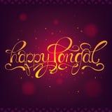 Счастливое Pongal Южный индийский жать фестиваль Стоковые Изображения