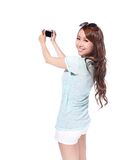 Счастливое selfie маленькой девочки перемещения Стоковые Фотографии RF