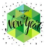 Счастливой литерность Нового Года нарисованная рукой Стоковое Фото