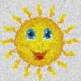 Счастливой текстура стекла солнца произведенная мозаикой Стоковые Фотографии RF