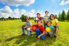 Счастливые активные дети Стоковое Изображение RF